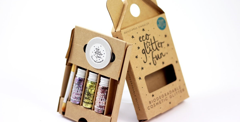 Eco Glitter Fun 3pcs Sparkle Box Blends 4