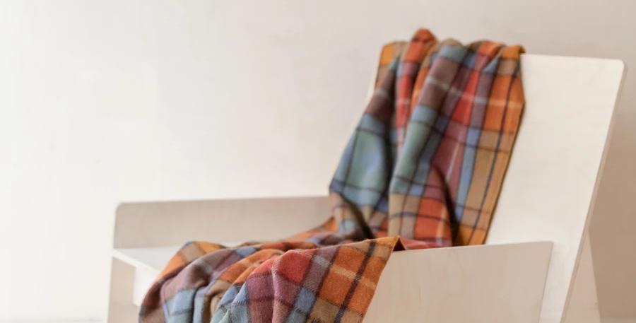 Recycled Wool Knee Blanket in Buchanan Antique Tartan