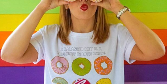 'Doughnut Diet' Oversized 100% Cotton Tee