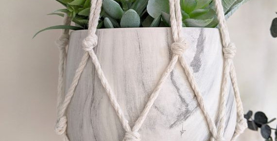 Macrame Planter - Bohemian Home Decor Indoor Planter (pot not included)