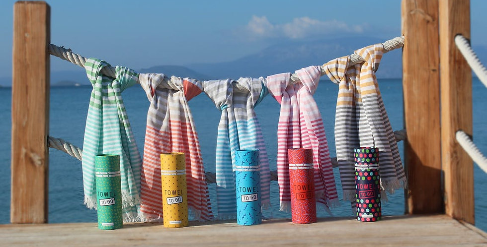 Towel to Go - Hammam Towel with Recycled Gift Box