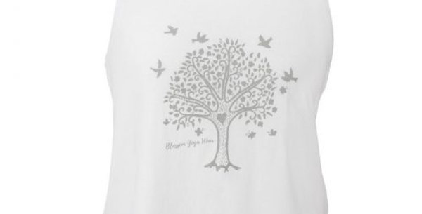 Tree of Life White Vest Top