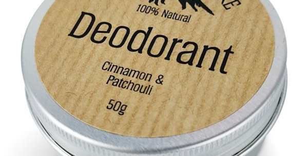 Rugged Nature 100% Natural Deodorant Cinnamon and Patchouli