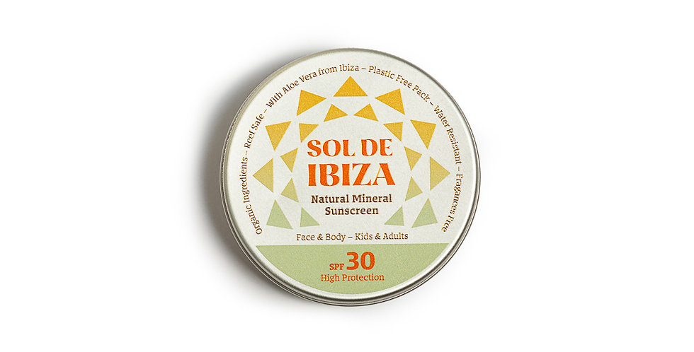 Sol de Ibiza natural sunscreen SPF 30 – 100ml Plastic Free
