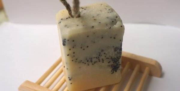 Frost Soap on a Rope – Vegan – Plastic Free – Hemp Rope Natural Soap Bars