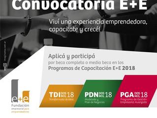 E+E abrió su convocatoria a emprendedores 2018