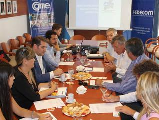Fedecom y el Foro de Entidades Empresarias recibieron al Alcade de Vicuña –Chile-, Rafael Vera