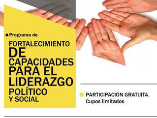 Continúa el programa de Formación para Liderazgo Político