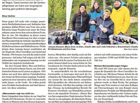 Zeitungsartikel über die Bierwanderung