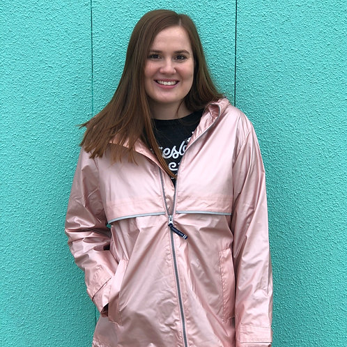 Metallic Charles River Rain Jacket