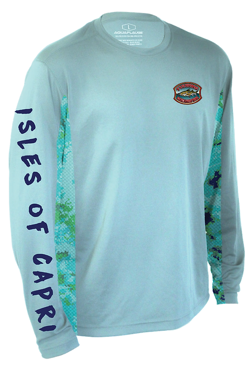 Fishing Solves Everything Long-Sleeve Tech Shirt