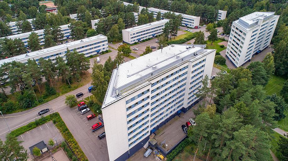 Helsinki, As Oy Kivisaarentie 2,3,4,5,6,8,10,12/Heteniityntie 3,5,9,11, julkisivujen huoltomaalaus