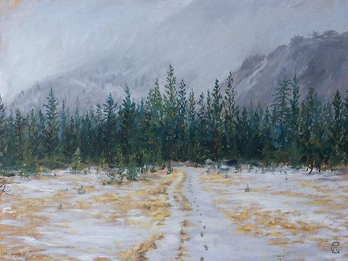 Yosemite Under Snow (Print)
