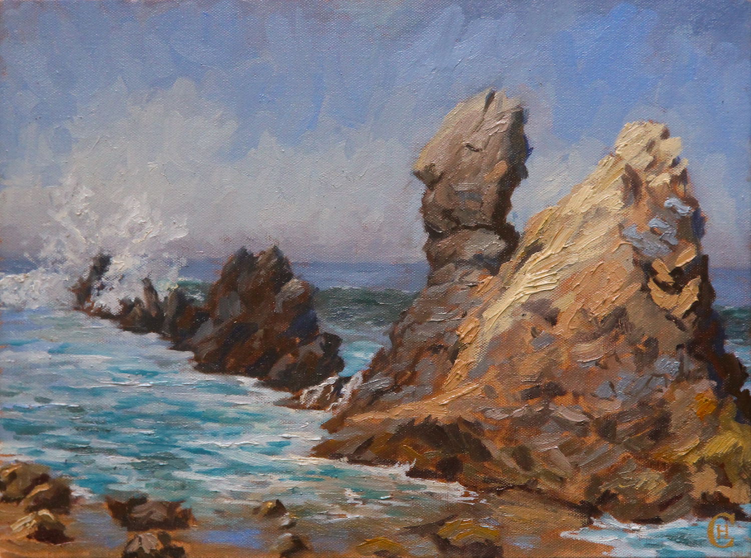 Chapman Hamborg art cystal cove rocks co
