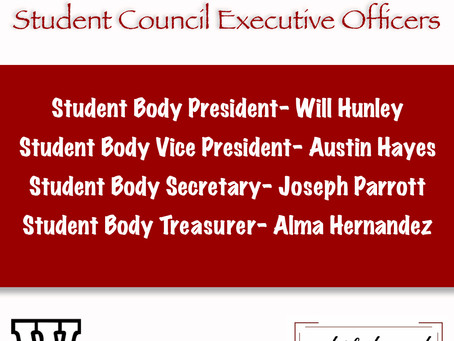 New Student Council Executive Officers Elected