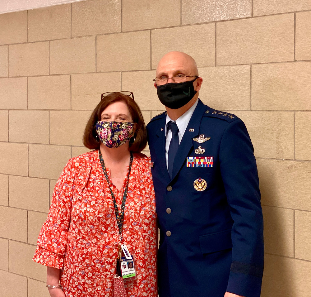 Teacher Kim Cook With Her Brother, Air Force General Arnold Bunch Jr.