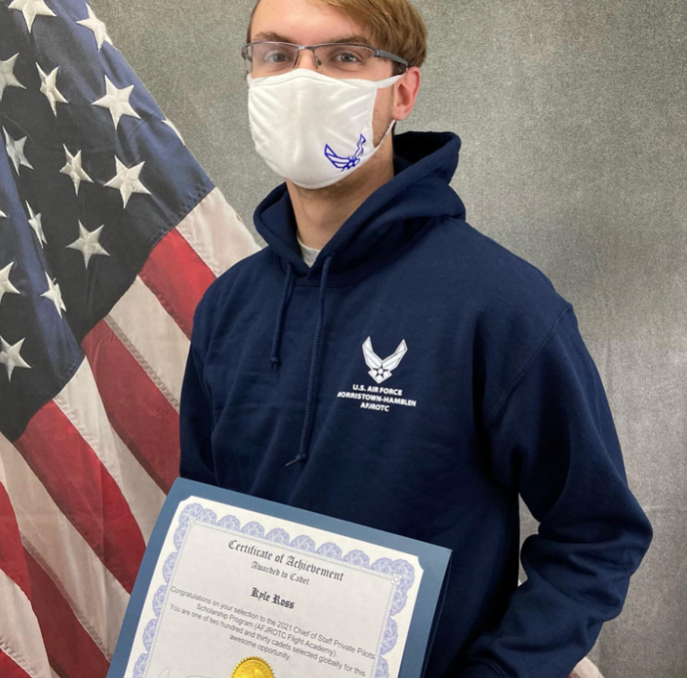 Cadet Kyle Ross Receiving His Award