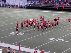 The Morristown West Marching Band Preparing To Perform At Half Time