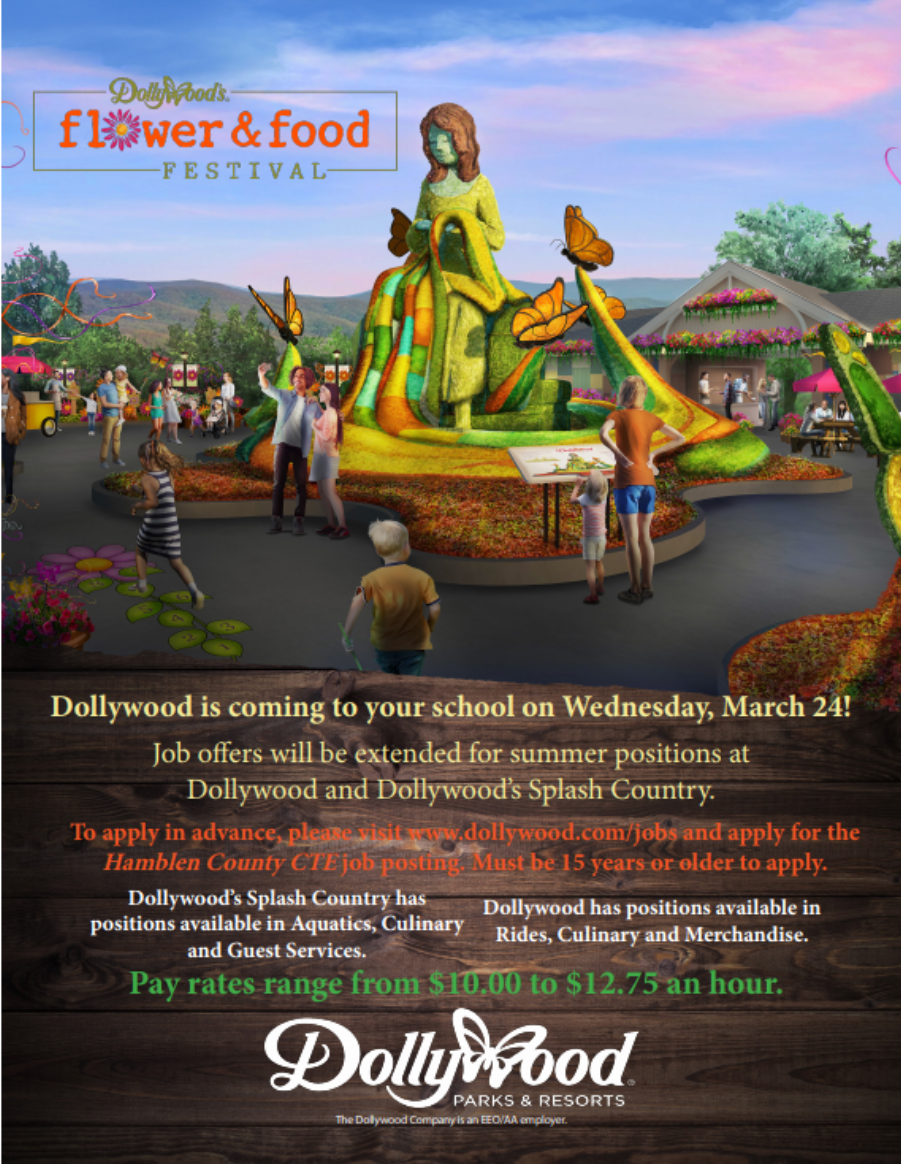 Dollywood Hiring Event Poster