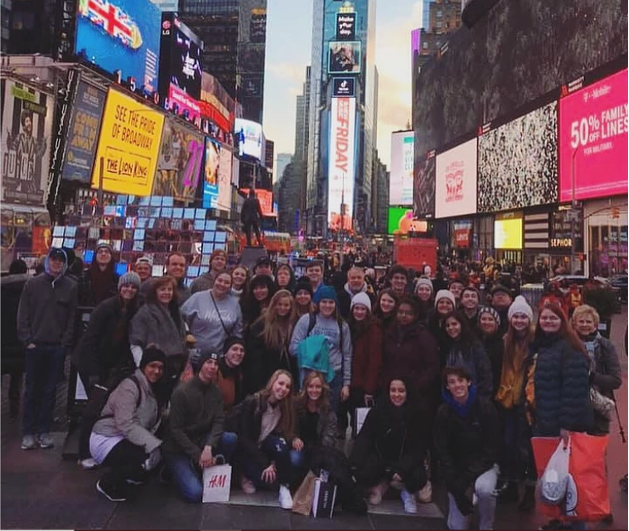 The choir visited New York City and performed in early March 2020.