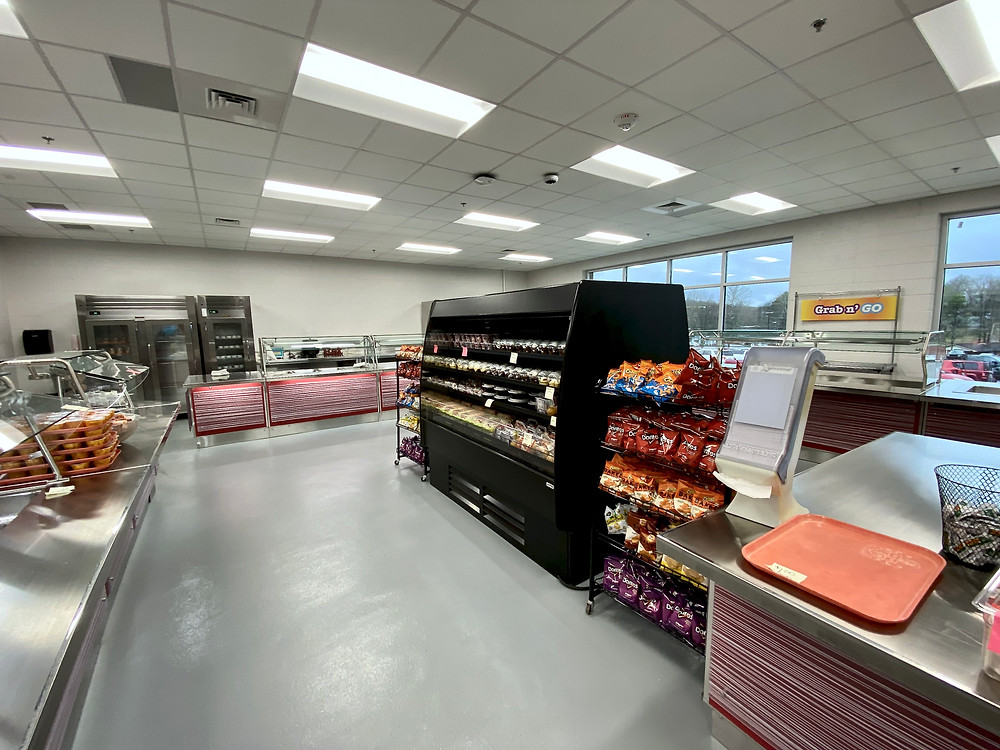 The Serving Line Addition Featuring Deli and Salad Bar Items