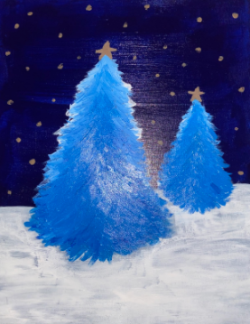 Painting of Christmas Tree by Bailey Metcalf (author)