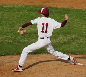 Camden Lovin pitching