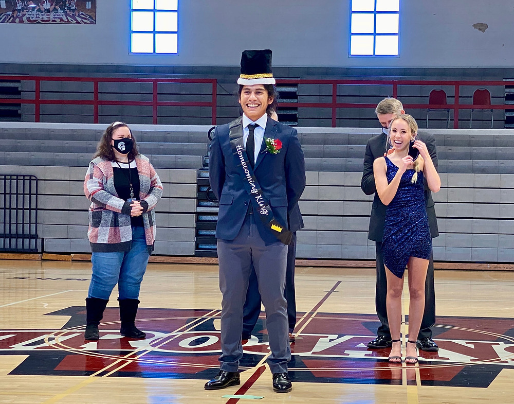 Jovanny Cerino crowned Mr. Homecoming.