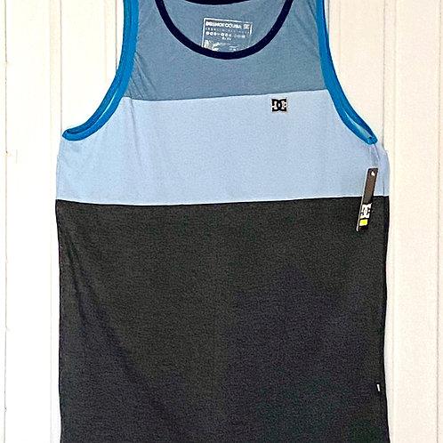 Camiseta desmangada DC (gris,azul)