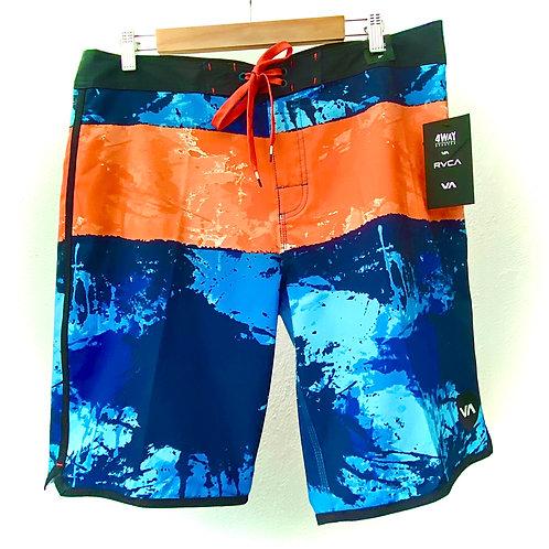 BoardShort RVCA (azul,naranja)