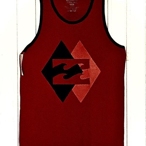 Camiseta desmangada Billabong (roja)