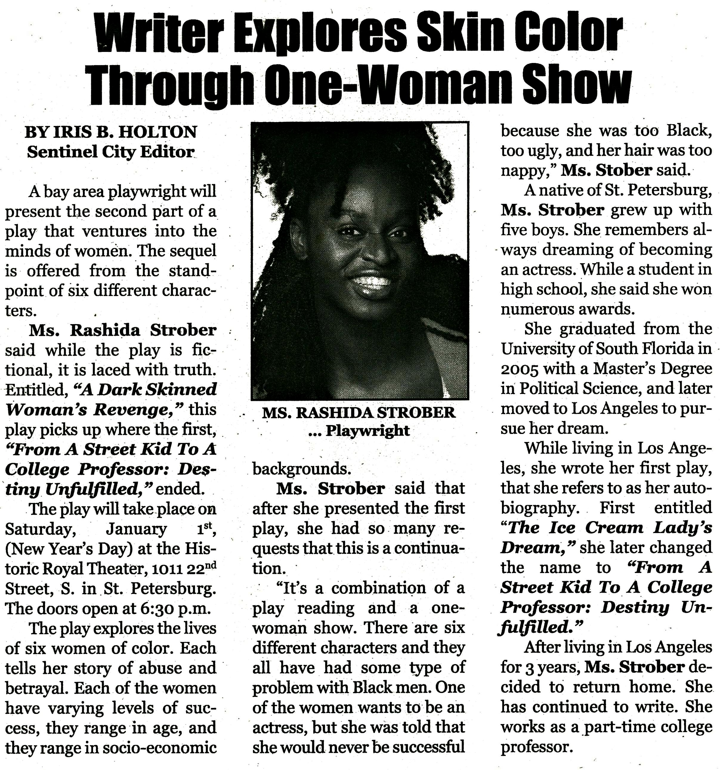 Sentinel City Editor - Iris B Holton