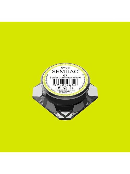 Semilac Gel para Decoraciones Spiders Gum 07 Neon Yellow