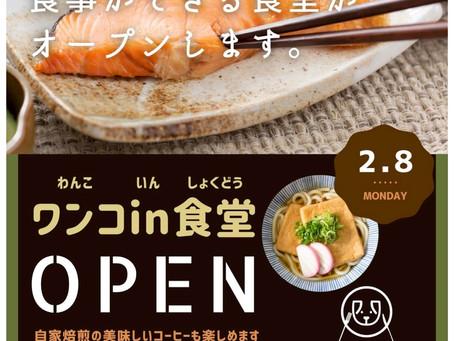 500円で食べれる「ワンコin食堂」2月8日にオープン!