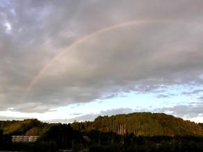 KIZUNA HOMEから虹が