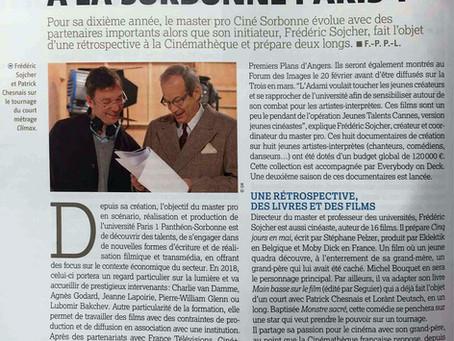 Quelle évolution pour le Master pro Ciné de la Sorbonne Paris 1 ?