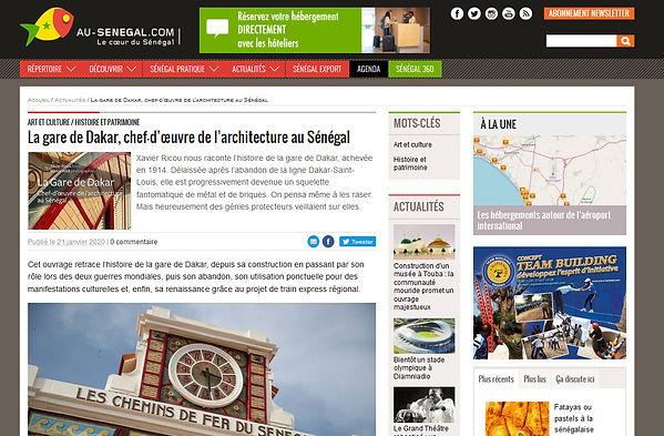 Gare de Dakar, chf d'oeuvre de l'architecture