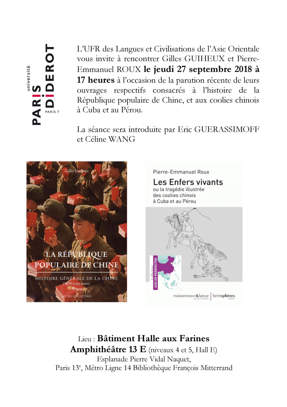 """Rencontre avec Pierre-Emmanuel Roux, auteur du livre """"Les enfers vivants"""" ."""