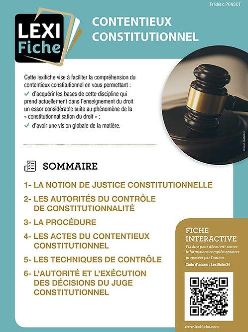 Lexifiches - Contentieux constitutionnel