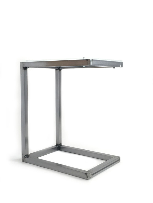 ABOUT This Minimalist Modern Industrial C Table Is Made From Galvanized  Steel With A Clear Acrylic Top. Designed And Welded By Yours Truly For An  All Custom ...