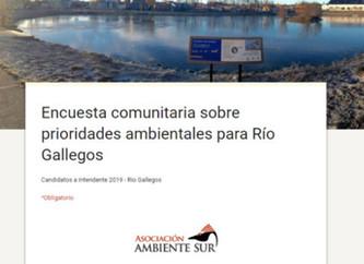 Lanzan encuesta de opinión sobre prioridades ambientales de Río Gallegos