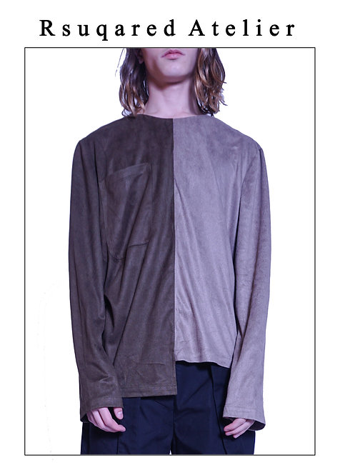 Rsquared Atelier | Asymmetric Suede Top