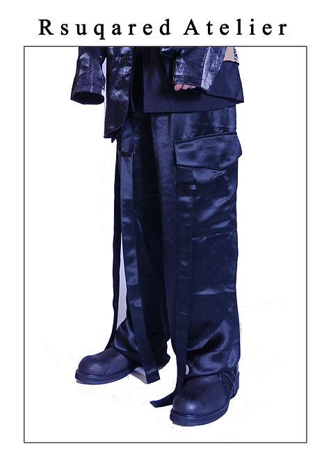 Rsquared Atelier | Black Acetate Pants