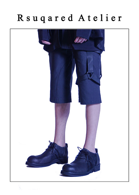 Rsquared Atelier   Black Shorts with Straps