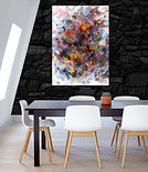 Ludo- Multi Colored White Abstract- Dining- F1.jpg