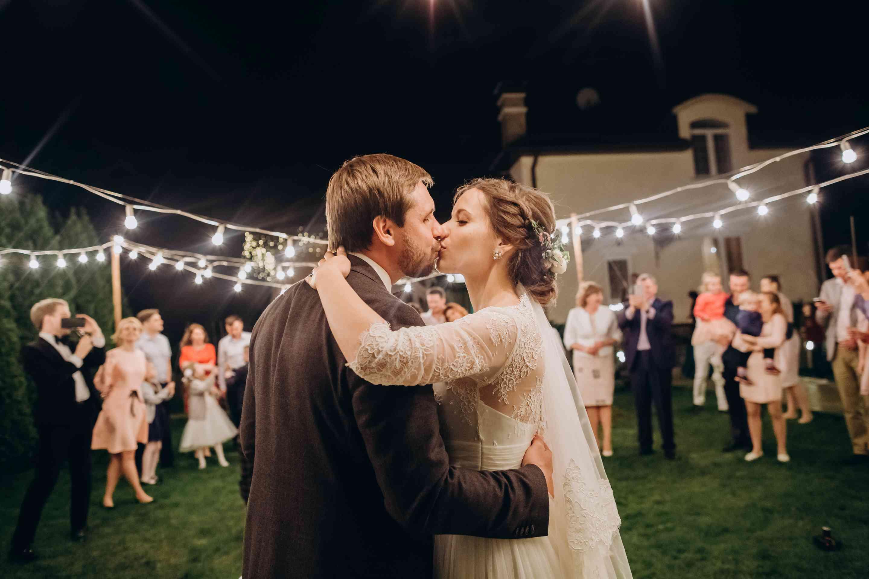 фотосессия вечерняя свадебная огни