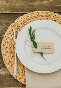 подставка под тарелку, свадьба