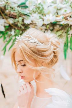 нежный воздушный образ невесты
