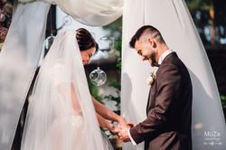 Жених и невеста, эмоции на церемонии