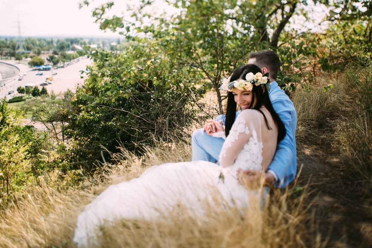 невеста, жених, фотосессия, лес